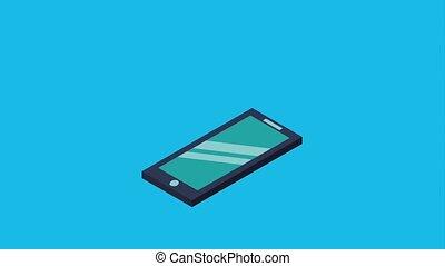 smartphone arrow upload data digital animation hd