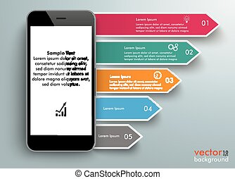 Smartphone Arrows Infographic
