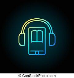 smartphone, audiobook, 色彩丰富, 图标