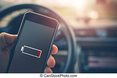 smartphone, batteri, laddning