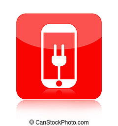 Smartphone battery charge icon