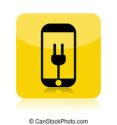 Smartphone battery recharge icon