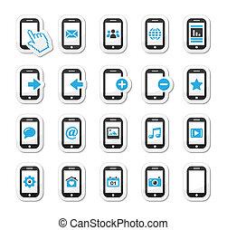 smartphone, beweglich, /, mobilfunk, oder