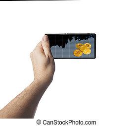 smartphone, bitcoin, main