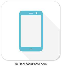 smartphone blue flat icon
