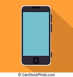 smartphone blue screen education online icon