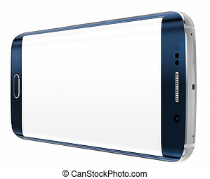 smartphone, bord, à, écran blanc