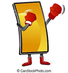 smartphone, boxe