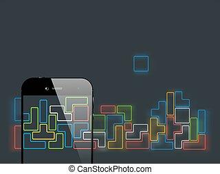 Smartphone briks game