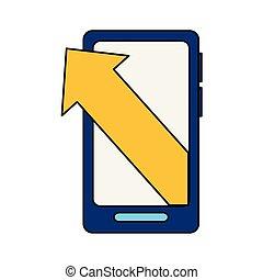 smartphone business arrow