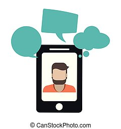 smartphone, business, bavarder