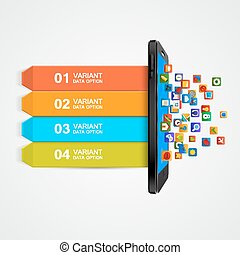 Smartphone business concept infographic.