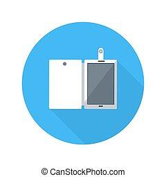 Smartphone business concept of flat design