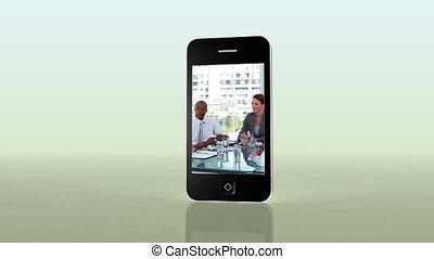 smartphone, business, vidéos