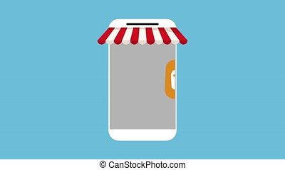 smartphone buying applications animation