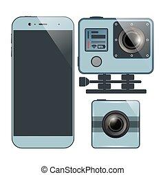 smartphone, câmera, jogo