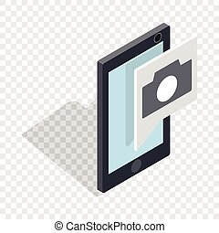 Smartphone camera application isometric icon