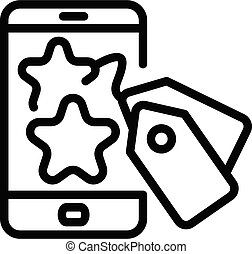 Smartphone campaign icon, outline style