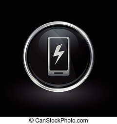 Smartphone charge icon
