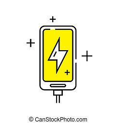 Smartphone charge line icon