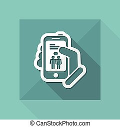 Smartphone chat icon
