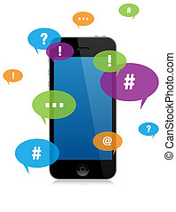 smartphone chat messaging - Smartphone Chat Messaging with...
