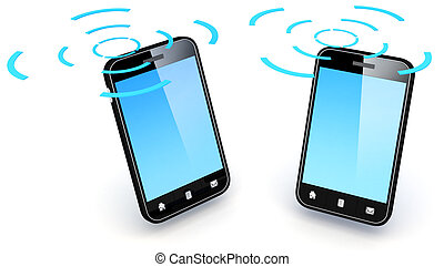 Smartphone - 3D Illustration of generic smartphone. Note:...