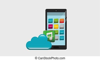 smartphone cloud storage sharing music data video chat