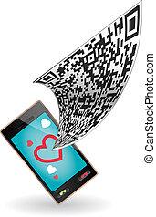 smartphone, code, qr