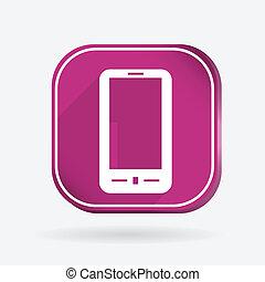 smartphone. Color square icon