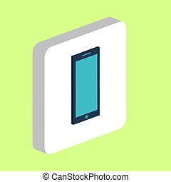 Smartphone computer symbol for your business project