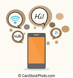 smartphone, concept, design.
