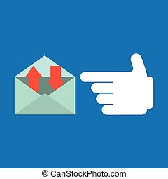smartphone, concept, message, parler, email, icône