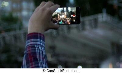 smartphone, concert musique