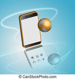 smartphone, conexão, tecnologia, concept.
