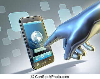 Smartphone connection - Connecting to internet with a touch...