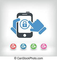 smartphone, contraseña