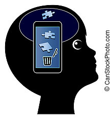Smartphone damage the Brain
