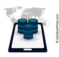 smartphone data server access