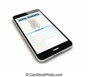 smartphone dental insurance render