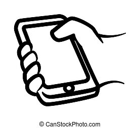 smartphone graphic design , vector illustration