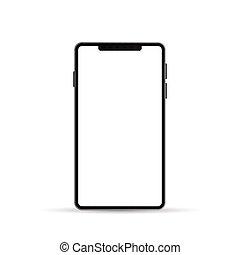 Smartphone design vector illustration isolated on white background