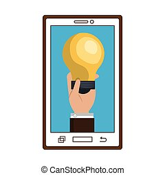 smartphone device and bulb light