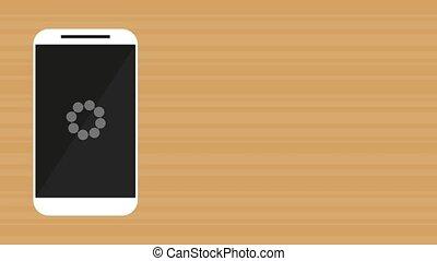 smartphone device loadding app  illustration design