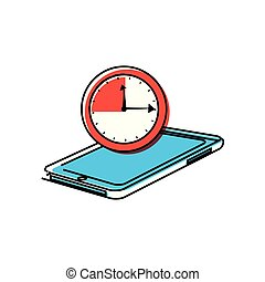 smartphone device with chronometer