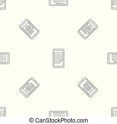 Smartphone document pattern seamless vector