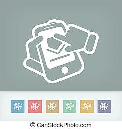 Smartphone download icon