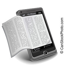 smartphone, ebook