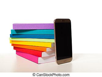 smartphone, elektronische bibliotheek