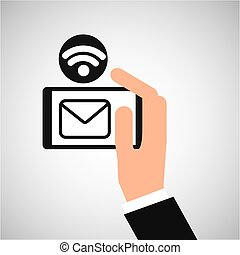 smartphone email internet wifi icon